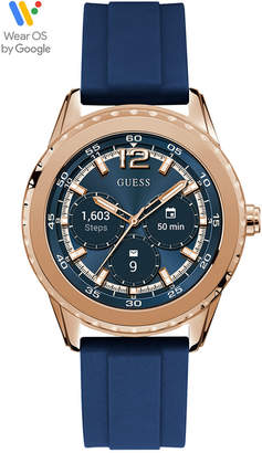 GUESS Connect Women Blue Silicone Strap Touchscreen Smart Watch 40mm