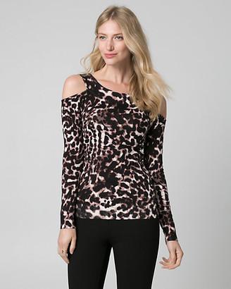 Le Château Leopard Print Viscose Blend Sweater