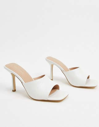 Forever New square toe mule in white