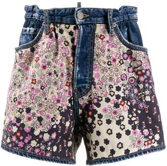 DSQUARED2 Floral Denim Shorts