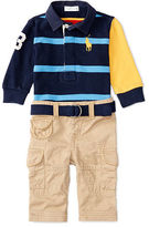 Ralph Lauren Cotton Rugby Shirt & Pant Set