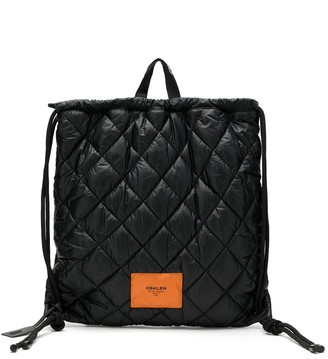 OSKLEN Quilted Logo Patch Backpack