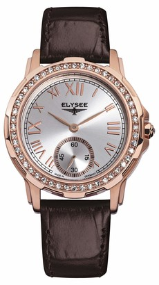 Elysee Unisex Adult Analogue Quartz Watch with Leather Strap 22005