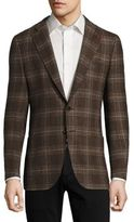 Isaia Regular-Fit Exploded Glen Plaid Wool Sportcoat