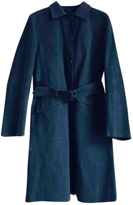 Prada Black Cotton Trench Coat for Women Vintage