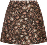 Alice + Olivia Jessa metallic brocade mini skirt