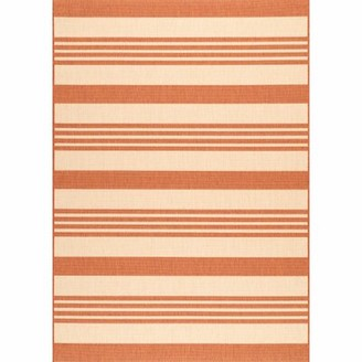 "Wrought Studioâ""¢ Haydon Terracotta/Cream Indoor/Outdoor Area Rug Wrought Studioa Rug Size: Runner 2' x 8'"