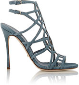 Sergio Rossi Women's Suede Puzzle Caged Sandals