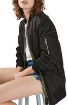 Topshop Women's Longline Ma1 Bomber Jacket