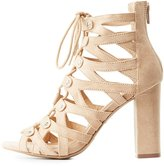 Charlotte Russe Caged Lace-Up Sandals