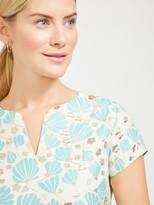J.Mclaughlin Ariana Dress in Blooming Shells Jacquard