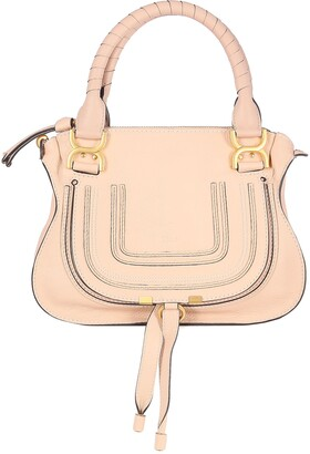 Chloé Marcie With Ring Under The Flap And Leather Ribbons