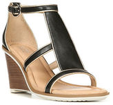 Dr. Scholl's Dr. Scholls Jacobs Black Leather Wedge Sandals