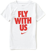 Nike Big Boys 8-20 Dri-Fit Fly With Us Short-Sleeve Graphic Tee