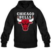 ZZYY Men's Long Sleeve Hoodies Chicago Bulls Hoodie Size M