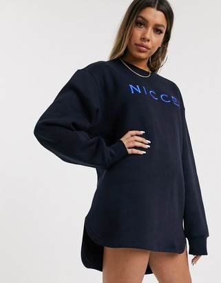 Nicce relaxed sweat dress with embroidered logo