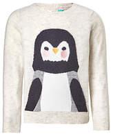 John Lewis Girls' Penguin Jumper, Oatmeal