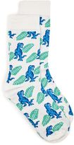 Topman Light Blue T-Rex Palm Tree Socks