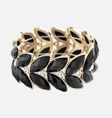 Avenue Faceted Leaf Stretch Bracelet