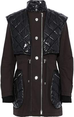 Sonia Rykiel Quilted Shell-paneled Cotton-canvas Coat