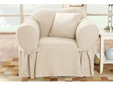 Sure Fit Cotton Duck Chair Slipcover, Natural