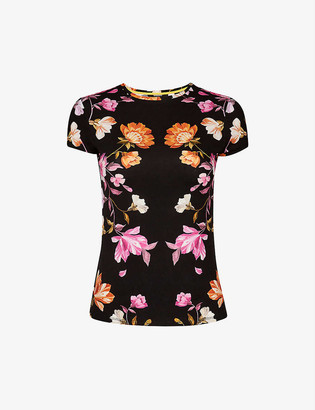Ted Baker Rhubarb floral-print woven T-shirt
