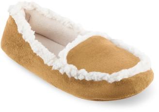 Isotoner Women's Alex Microsuede 360 Comfort Moccasin Slippers