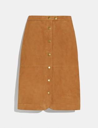 Coach Suede Skirt