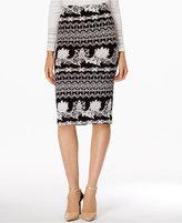 ECI Textured Pencil Skirt