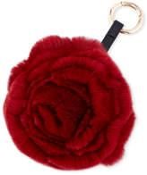 Adrienne Landau Spiral Rabbit Fur Rosette Pompom Bag Charm