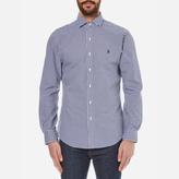 Polo Ralph Lauren Men's Long Sleeved Shirt Navy/White