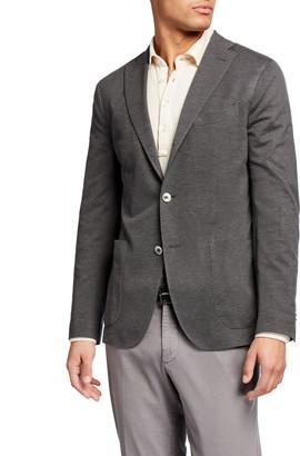 Boglioli Men's Pique Three-Button Jacket