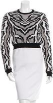 Torn By Ronny Kobo Zebra Patterned Crop Sweater