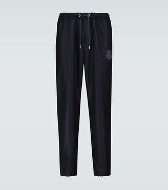 Moncler Wool trackpants with ankle zipper
