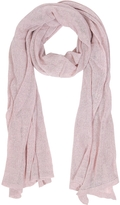 Mila Schon Solid Light Pink Wool Blend Stole