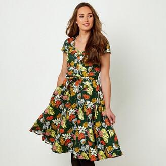Joe Browns Short-Sleeved Floral Dress