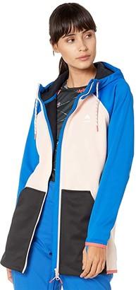 Burton Crown Weatherproof Long Full Zip Fleece (Lapis Blue/Peach Melba/True Black) Women's Clothing