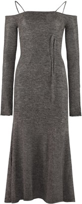 Jacquemus Knitted Off-the-shoulder Dress