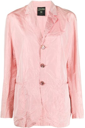 Jean Paul Gaultier Pre-Owned 1990s Creased Straight-Fit Jacket