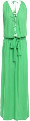 Melissa Odabash Jacqui Lace-up Tassel-trimmed Voile Maxi Dress