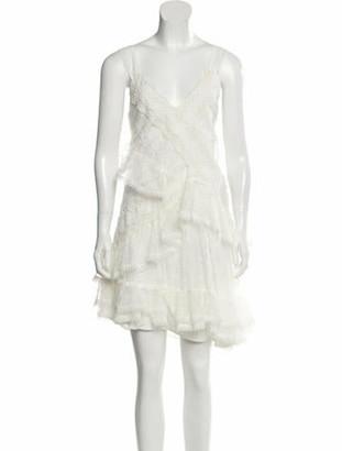 Alexis Lace Pattern Mini Dress White