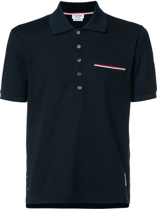Thom Browne chest pocket shortsleeved shirt