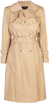 Simone Rocha Frill Detailed Belted Trench