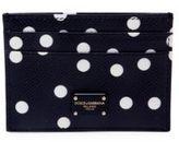 Dolce & Gabbana Polka-Dot Leather Card Case