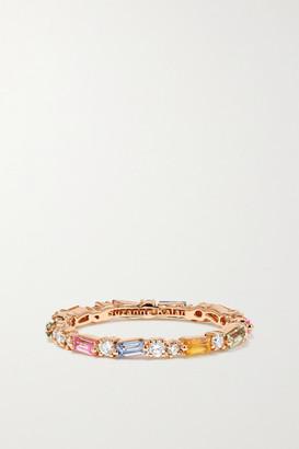 Suzanne Kalan 18-karat Rose Gold, Sapphire And Diamond Ring - 6