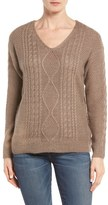 RD Style Back Cutout Cable Knit Sweater