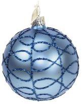 Briefing Cobweb Glitter Glass Ball Ornament