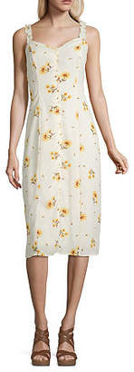Trixxi Sleeveless Floral Swing Dresses-Juniors