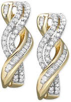Macy's Diamond Twist Earrings in 14k Gold (1/2 ct. t.w.)