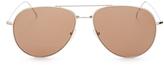 Illesteva Linate Flat Lens Mirrored Aviator Sunglasses, 61mm